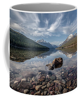 Bowman Lake Rocks Coffee Mug