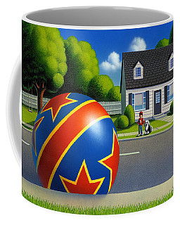 Boy And The Ball  Coffee Mug