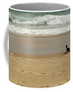 Boy On The Beach Coffee Mug