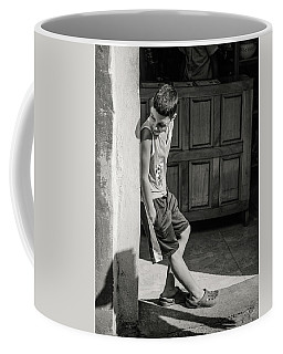 Boy On The Corner Coffee Mug