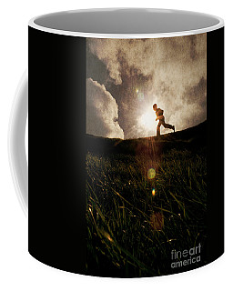 Boy Running Coffee Mug
