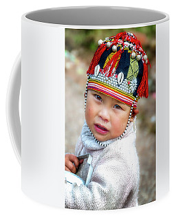 Boy With A Red Cap. Coffee Mug