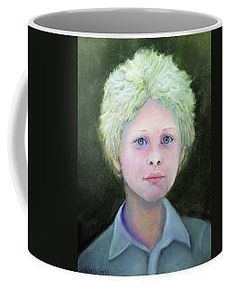 Boy With Curly Hair Coffee Mug