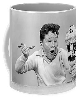 Boy With Giant Ice Cream Sundae, C.1950s Coffee Mug