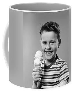 Boy With Ice Cream Cone, C.1950s Coffee Mug