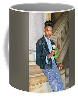 Coffee Mug featuring the photograph Boy With White Rose 15042623 by Alexander Image