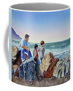 Boys And The Ocean Coffee Mug