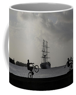 Coffee Mug featuring the photograph Boys At Play by Sharon Jones