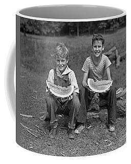 Boys Eating Watermelons, C.1940s Coffee Mug