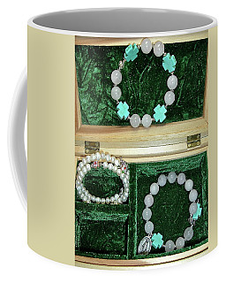 Coffee Mug featuring the jewelry Bracelets Of Faith by Michele Myers