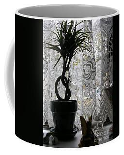 Braided Dracena On Sill Coffee Mug