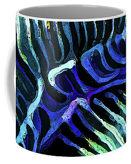 Brain Coral Abstract 3 In Blue Coffee Mug