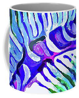 Brain Coral Abstract 5 In Blue Coffee Mug