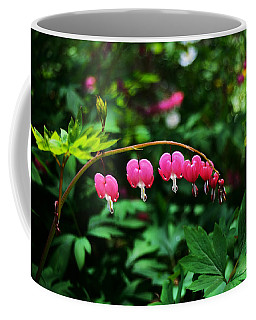 Branch Of Bleeding Heart Blooms Coffee Mug