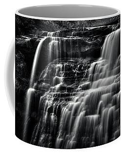 Brandywine Falls At Cuyahoga Valley National Park B W Coffee Mug