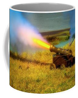 Brass Cannon Firing Coffee Mug