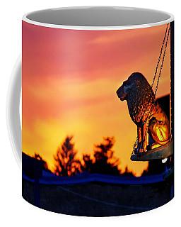 Coffee Mug featuring the photograph Brass Cat Lion by Sven Kielhorn