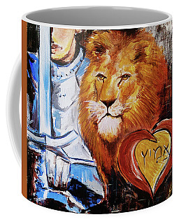 Coffee Mug featuring the painting Brave Heart by Jennifer Page
