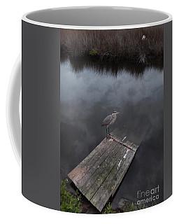 Brave Heron Coffee Mug by Expressionistart studio Priscilla Batzell