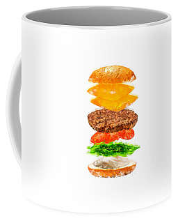 Brazilian Salad Cheeseburger Coffee Mug by Caito Junqueira