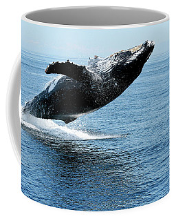 Breaching Humpback Whales Happy-2 Coffee Mug