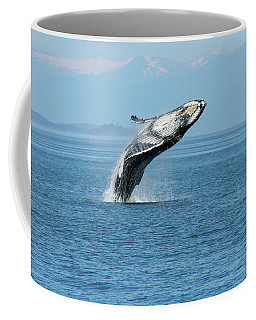 Breaching Humpback Whales Happy-3 Coffee Mug