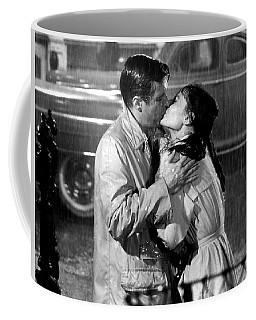 Coffee Mug featuring the photograph Breakfast At Tiffanys Audrey Hepburn And George Peppard by R Muirhead Art