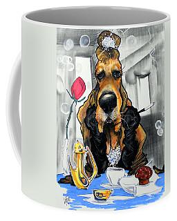Breakfast At Tiffany's Basset Hound Caricature Art Print Coffee Mug
