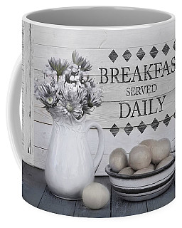 Coffee Mug featuring the photograph Breakfast Served Daily by Robin-Lee Vieira