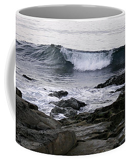 Coffee Mug featuring the photograph Breaking Waves by Carol  Bradley