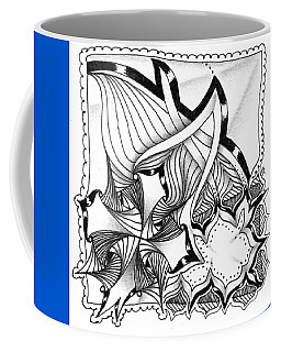 Coffee Mug featuring the drawing Breakthrough by Jan Steinle