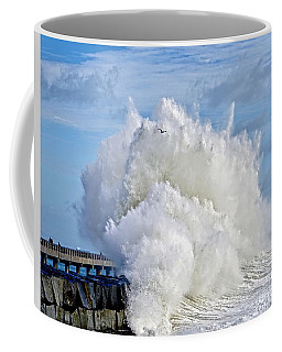 Breakwater Explosion Coffee Mug by Michael Cinnamond