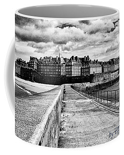 Coffee Mug featuring the photograph Breakwater Walkway To Intra Muros by Elf Evans