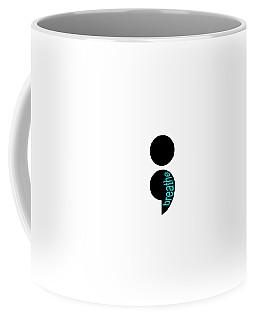 Breathe Semicolon Logo Coffee Mug