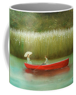 Coffee Mug featuring the painting Breezy Spring by Chris Fraser
