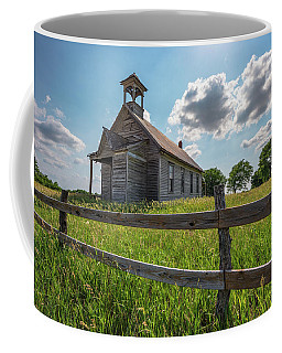 Coffee Mug featuring the photograph Bremen Schoolhouse by Darren White
