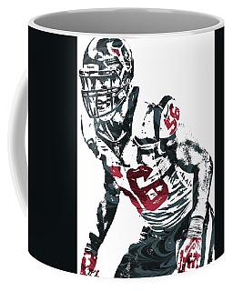 Brian Cushing Houston Texans Pixel Art Coffee Mug by Joe Hamilton
