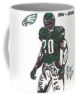 Coffee Mug featuring the drawing Brian Dawkins 3 by Jeremiah Colley