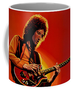 Brian May Of Queen Painting Coffee Mug