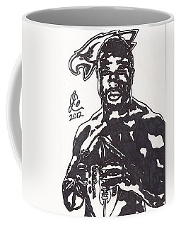Coffee Mug featuring the drawing Brian Westbrook by Jeremiah Colley