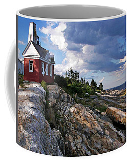 Coffee Mug featuring the photograph Brick Bell House At Pemaquid Point Light by Joy Nichols