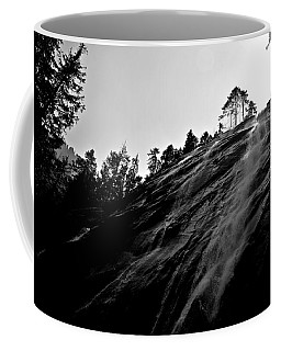 Coffee Mug featuring the photograph Bridal Veil Falls In Black And White by SimplyCMB