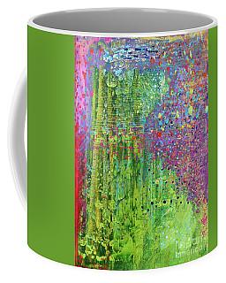 Abstract Green And Pink Coffee Mug