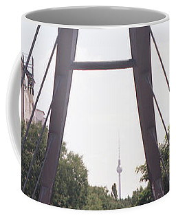 Bridge And Alexanderplatz Tower Coffee Mug