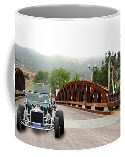 Coffee Mug featuring the photograph Bridge And Bucket by Bill Dutting