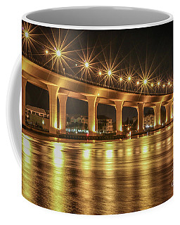 Bridge And Golden Water Coffee Mug