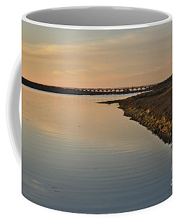 Bridge And Ria At Sunset In Quinta Do Lago Coffee Mug by Angelo DeVal