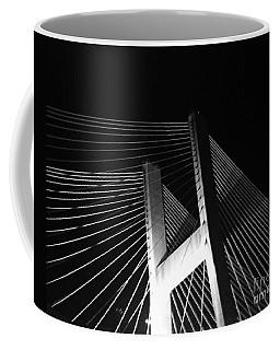 Bridge At Night Black And White Coffee Mug