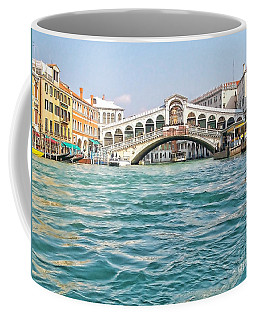 Coffee Mug featuring the photograph Bridge In Venice by Roberta Byram