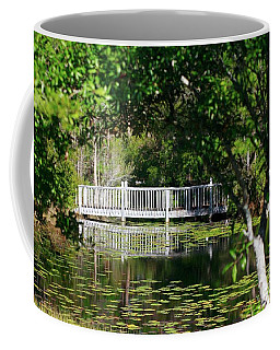 Bridge On Lilly Pond Coffee Mug